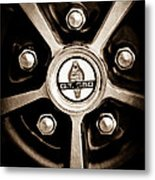 1966 Shelby Cobra Gt350 Wheel Rim Emblem Metal Print