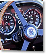 1967 Aston Martin Db6 Volante Steering Wheel 2 Metal Print