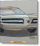 1967 Barracuda  Plymouth Vintage Styling Design Concept Rendering Sketch Fred Schimmel Metal Print