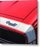 1967 Chevrolet Camaro Ss 350 Convertible Hood Emblem Metal Print
