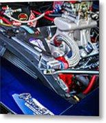 1967 Chevrolet Camaro Ss 350 Engine - Hood Emblem  Metal Print