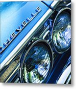1967 Chevrolet Chevelle Malibu Head Light Emblem Metal Print