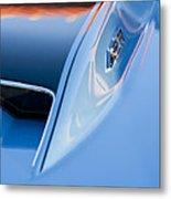 1967 Chevrolet Corvette 427 Hood Emblem 3 Metal Print