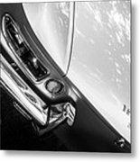 1967 Ferrari 330 Gts Taillight Emblem -0406bw Metal Print