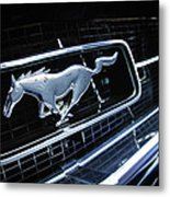 1967 Ford Mustang Gt Grille Emblem Metal Print
