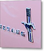 1967 Ford Mustang Side Emblem Metal Print