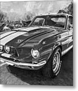 1967 Ford Shelby Mustang Gt500 Painted Bw Metal Print