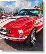1967 Ford Shelby Mustang Gt500 Painted  Metal Print