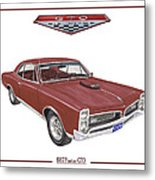 1967 G T O Pontiac Metal Print