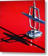 1967 Lincoln Continental Hood Ornament -1204c Metal Print
