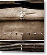 1967 Lincoln Continental Hood Ornament - Emblem Metal Print