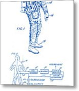 1967 Nasa Astronaut Ventilated Space Suit Patent Art 2 Metal Print
