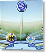 1967 Volkswagen Vw Karmann Ghia Hood Emblem Metal Print