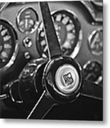 1968 Aston Martin Steering Wheel Emblem Metal Print