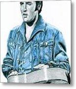 1968 Blue Denim Suit Metal Print