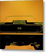 1968 Camaro Ss Head On Metal Print