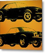 1968 Camaro Ss Side View Metal Print