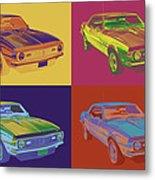 1968 Chevrolet Camaro 327 Muscle Car Pop Art Metal Print