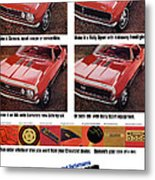 1968 Chevy Camaro Metal Print