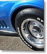 1968 Corvette Sting Ray - Blue - Side - 8923 Metal Print