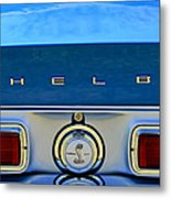 1968 Ford Shelby Gt500 Kr Convertible Rear Emblems Metal Print