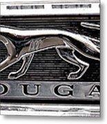 1968 Mercury Cougar Emblem Metal Print by David Patterson