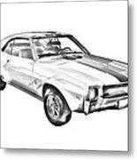 1969 Amc Javlin Car Illustration Metal Print