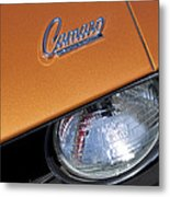1969 Chevrolet Camaro Headlight Emblem Metal Print by Jill Reger