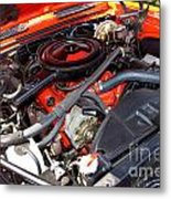 1969 Chevrolet Camaro Rs - Orange - 350 Engine - 7567 Metal Print