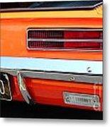 1969 Chevrolet Camaro Rs - Orange - Rear End - 7609 Metal Print