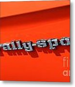 1969 Chevrolet Camaro Rs - Orange - Side Rs - 7562 Metal Print