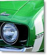 1969 Chevrolet Camaro Ss Headlight Emblems Metal Print by Jill Reger