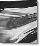 1969 Chevrolet Corvette Roadster 427 Hood Emblem -0654bw Metal Print