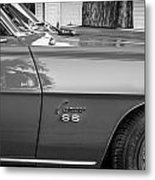 1969 Chevy Camaro Ss 396 Painted Bw Metal Print