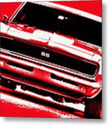 1969 Chevy Camaro Ss - Red Metal Print