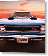 1969 Dodge Coronet R/t In B5 Blue Metal Print