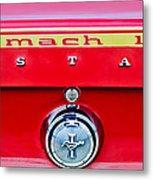 1969 Ford Mustang Mach 1 Rear Emblems Metal Print