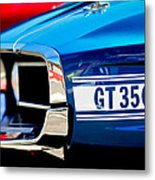 1969 Ford Mustang Shelby Gt350 Grille Emblem Metal Print