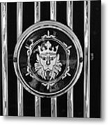 1969 Morgan Roadster Grille Emblem 3 Metal Print by Jill Reger