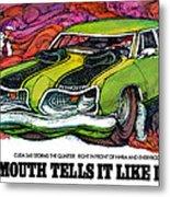 1969 Plymouth 'cuda 340 Metal Print