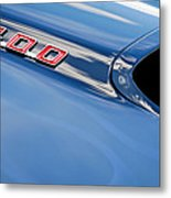 1969 Pontiac Firebird 400 Hood Metal Print