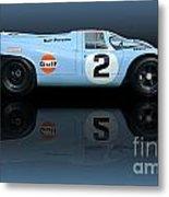 1969 Porsche 917k Gulf Daytona Winner Metal Print