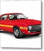 1969 Shelby Cobra Gt 500 Retro Sports Car Metal Print