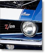 1969 Z28 Camaro Real Muscle Car Metal Print