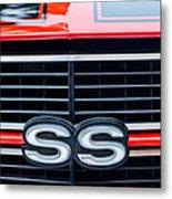 1970 Chevrolet Chevelle Ss 454 Grille Emblem Metal Print by Jill Reger