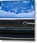 1970 Dodge Challenger Rt Convertible Grille Emblem -0545c Metal Print