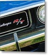 1970 Dodge Challenger Rt Convertible Grille Emblem Metal Print