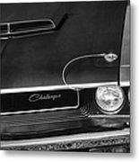 1970 Dodge Challenger T/a In Black And White Metal Print