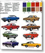 1970 Dodge Coronet Models And Colors Metal Print