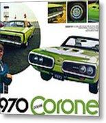 1970 Dodge Coronet R/t Metal Print
